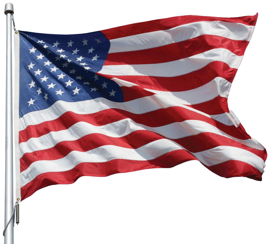 COMMERCIAL US AMERICAN FLAG 5X8 EMBROIDERED MESH POLY