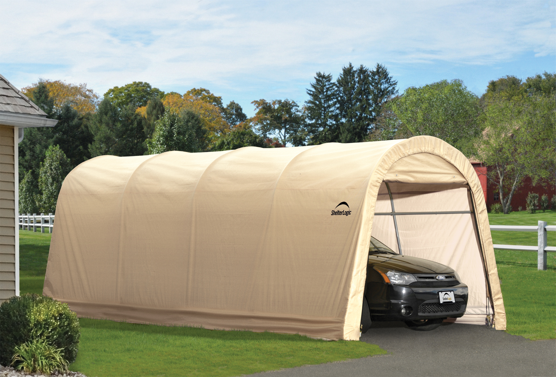 Replacement Covers Shelter Garage 120 240 : Autoshelter roundtop portable garage creative